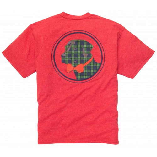 Plaid Lab Tee: Poinsettia Short Sleeve